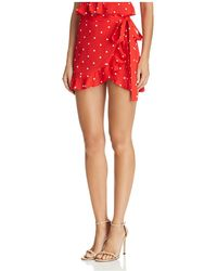 For Love & Lemons - Natalia Polka-dot Skort - Lyst