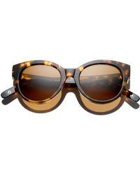 Dick Moby Women's Paris Cat Eye Sunglasses - Brown