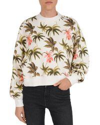 Tropical Print Cotton Fleece Sweatshirt Multicolour