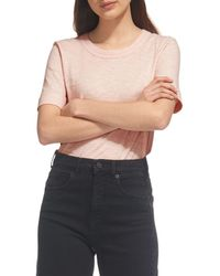 Whistles - Rosa Double - Trimmed Tee - Lyst