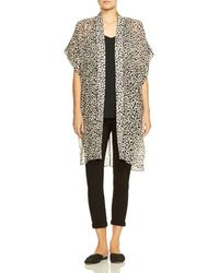 Halston - Printed Open - Front Caftan - Lyst
