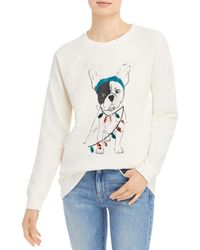 Marc New York Performance Dog Holiday Graphic Jumper - White