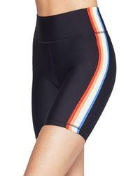 Spiritual Gangster - Rainbow Stripe Bike Shorts - Lyst