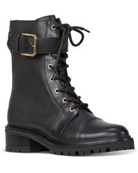 PAIGE Bailey Buckle & Lace Up Booties - Black