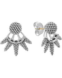 Lagos - Sterling Silver Signature Caviar Bead Spiked Ear Jackets - Lyst