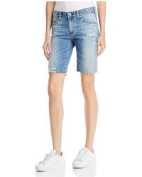 AG Jeans - Nikki Denim Shorts In 16 Years Indigo Deluge Destructed - Lyst