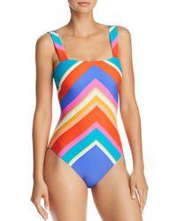 Trina Turk - Sunset Chevron One Piece Swimsuit - Lyst