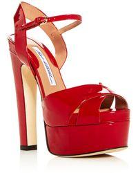 Brian Atwood - Women's Madison High-heel Platform Sandals - Lyst