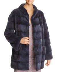 Maximilian Mink Fur Coat - Multicolor
