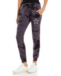 Chrldr Tie Dyed Jogger Pants - Black