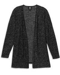 B Collection By Bobeau Open Front Cardigan - Black