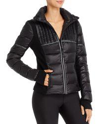 Aqua Athletic Reflective - Inset Puffer Jacket - Black