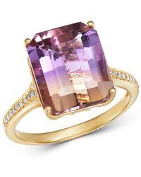 Bloomingdale's Ametrine & Diamond Ring In 14k Yellow Gold - Metallic