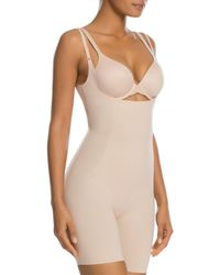 Spanx Thinstincts Open - Bust Mid - Thigh Bodysuit - Natural
