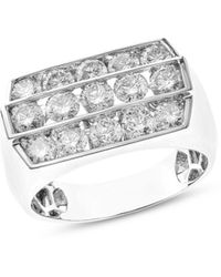 Bloomingdale's Diamond Three Row Ring In 14k White Gold