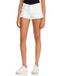 Pistola Gigi Low - Rise Cutoff Denim Shorts In White