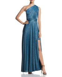 Elie Tahari - Mistry Pleated One-shoulder Maxi Dress - Lyst
