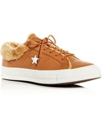 ed4f823c3c0 Converse - Women s One Star Faux-fur Low-top Trainers - Lyst