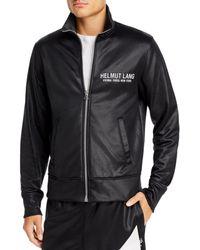 Helmut Lang Logo-embroidered Coated Loopback Jersey Track Jacket - Black