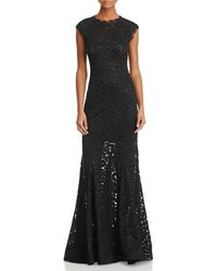 Aqua - Embellished Lace Gown - Lyst