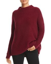 C By Bloomingdale's Mock - Neck Cashmere Jumper - Red