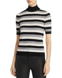 C By Bloomingdale's Striped Short - Sleeve Cashmere Sweater - Multicolor