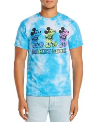 Junk Food Mickey Mouse Tie - Dye Graphic Tee - Blue