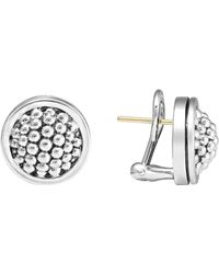 "Lagos - Sterling Silver ""caviar"" Button Earrings - Lyst"
