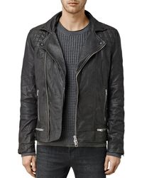 AllSaints Conroy Leather Biker Jacket - Black