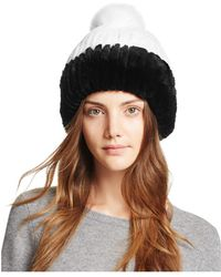 Maximilian - Rabbit Fur Hat - Lyst