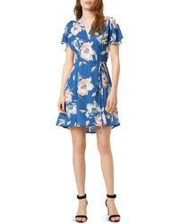 French Connection Cari A-line Dress - Blue