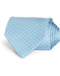 Ferragamo - Gancini Print Silk Classic Tie - Lyst