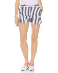 Vince Camuto Boardwalk Stripe Two Pocket Short - Blue