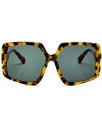 Karen Walker Square Sunglasses - Multicolor