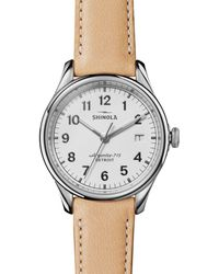 Shinola - The Vinton Tan Leather Strap Watch - Lyst
