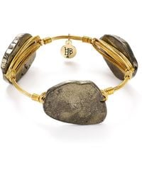 Bourbon and Boweties - Pyrite Bangle - Lyst