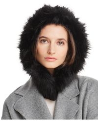 Echo - Faux Fur-trim Hooded Scarf - Lyst