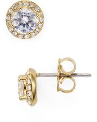 Nadri - Cubic Zirconia Stud Earrings - Lyst