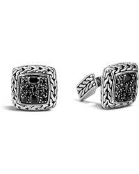 John Hardy Classic Chain Cufflinks With Gemstone - Metallic