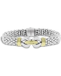 Lagos - 18k Gold And Sterling Silver Derby Bracelet - Lyst
