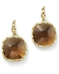 Roberto Coin - 18k Yellow Gold Ipanema Square Earrings With Citrine - Lyst
