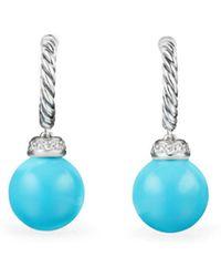 David Yurman - Solari Drop Earrings With Diamonds & Reconstituted Turquoise - Lyst