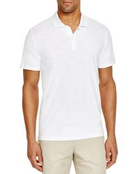 Bloomingdale's Slub Jersey Enzyme Wash Classic Fit Polo - White