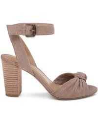 Splendid - Women's Bea Knotted Suede Block Heel Sandals - Lyst