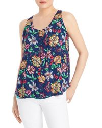 Johnny Was Reversible Floral Print Tank Top - Blue