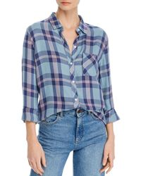 Rails Hunter Plaid Shirt - Blue
