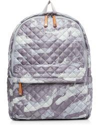 MZ Wallace - Gray Camo Metro Backpack - Lyst