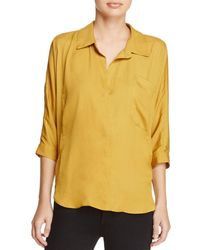 d.RA - Marie Collared V-neck Shirt - Lyst
