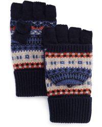 Bloomingdale's - The Men's Store Fair Isle Pop Top Gloves - Lyst
