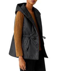 Eileen Fisher Hooded Vest - Black